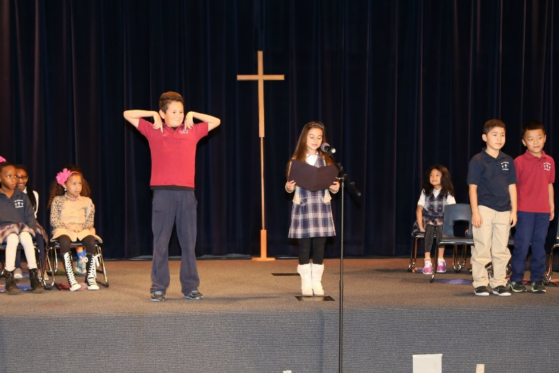 2nd Grade Leads Chapel